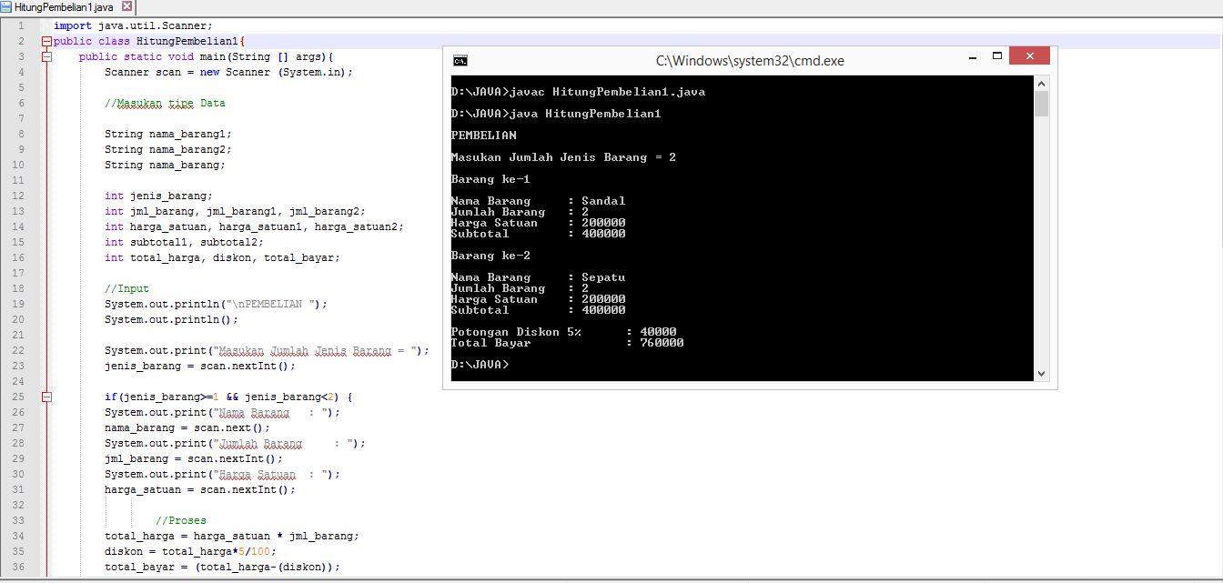 Contoh Program Pembelian / Penjualan Sederhana Dengan Java ...