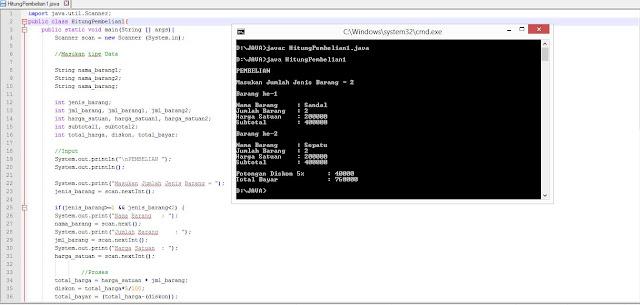 Contoh Program Pembelian / Penjualan Sederhana Dengan Java NeatBeans