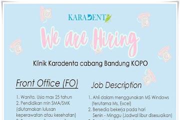 Lowongan Kerja Bandung Front Office Karadenta
