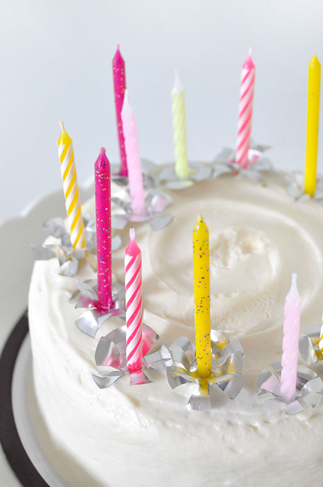 Foil Birthday Candle Holders