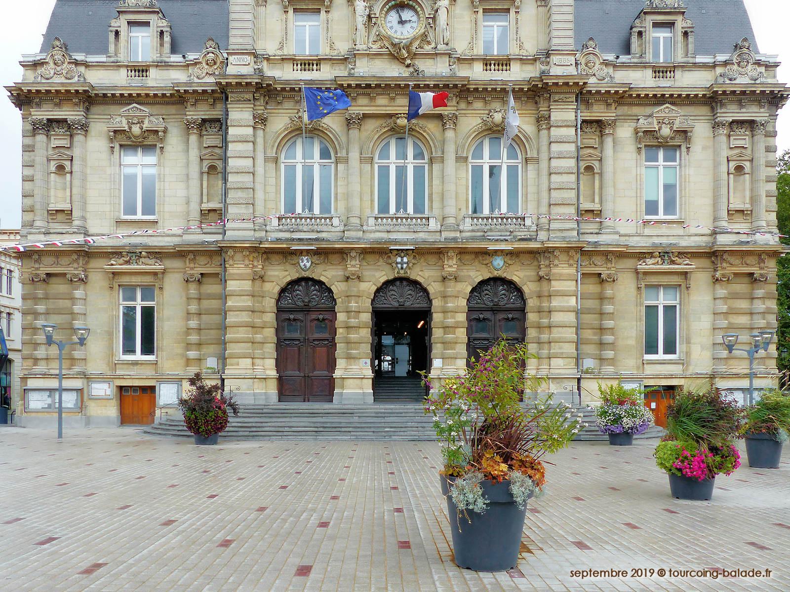 Façade de l'Hôtel de Ville de Tourcoing, 2019