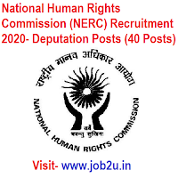 National Human Rights Commission (NERC) Recruitment 2020, Deputation Posts