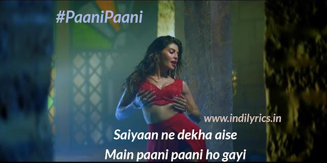 Paani Paani - Jacqueline Fernandez | Lyrics | Quotes | Images | Badshah