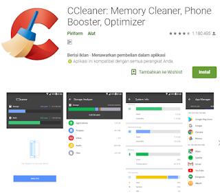 Menghapus aplikasi bawaan android dengan ccleaner
