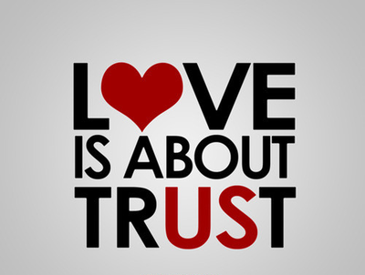 Love is about trust, trust in relationship images