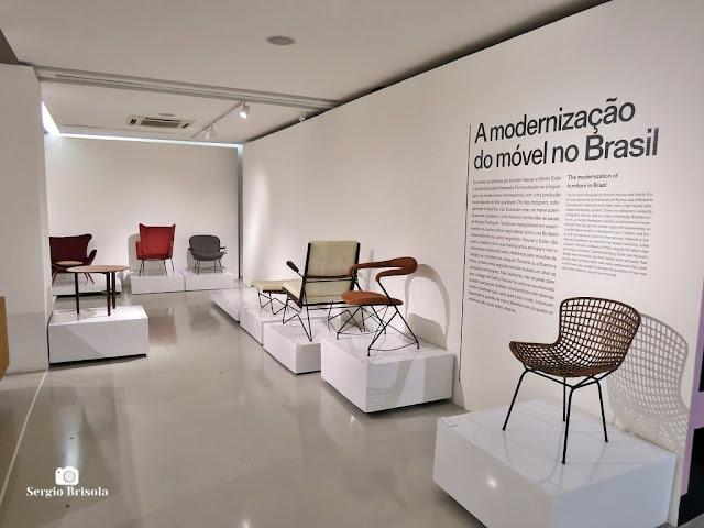 Vista de parte do setor expositivo do Museu Belas Artes de São Paulo - Vila Mariana - São Paulo