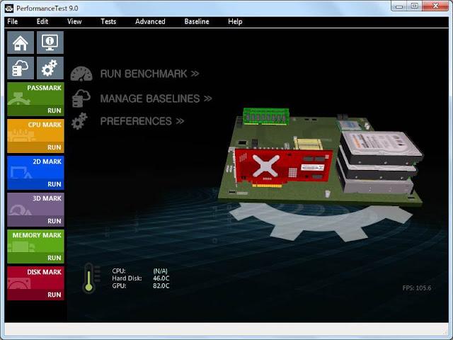Screenshot PerformanceTest 9.0 Build 1033 Full Version