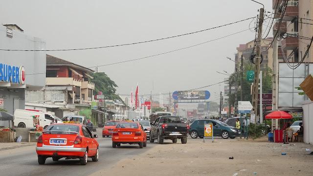Large streets in Abidjan