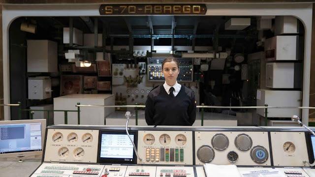 Laura Vitalia González Martínez, en uno de los simuladores de la Escuela de Submarino. Silvia Pérez