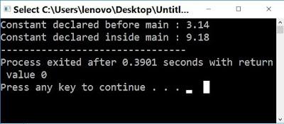 c++ constant output