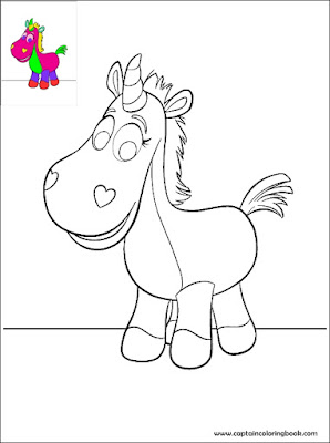 Toy Story Buttercup coloring