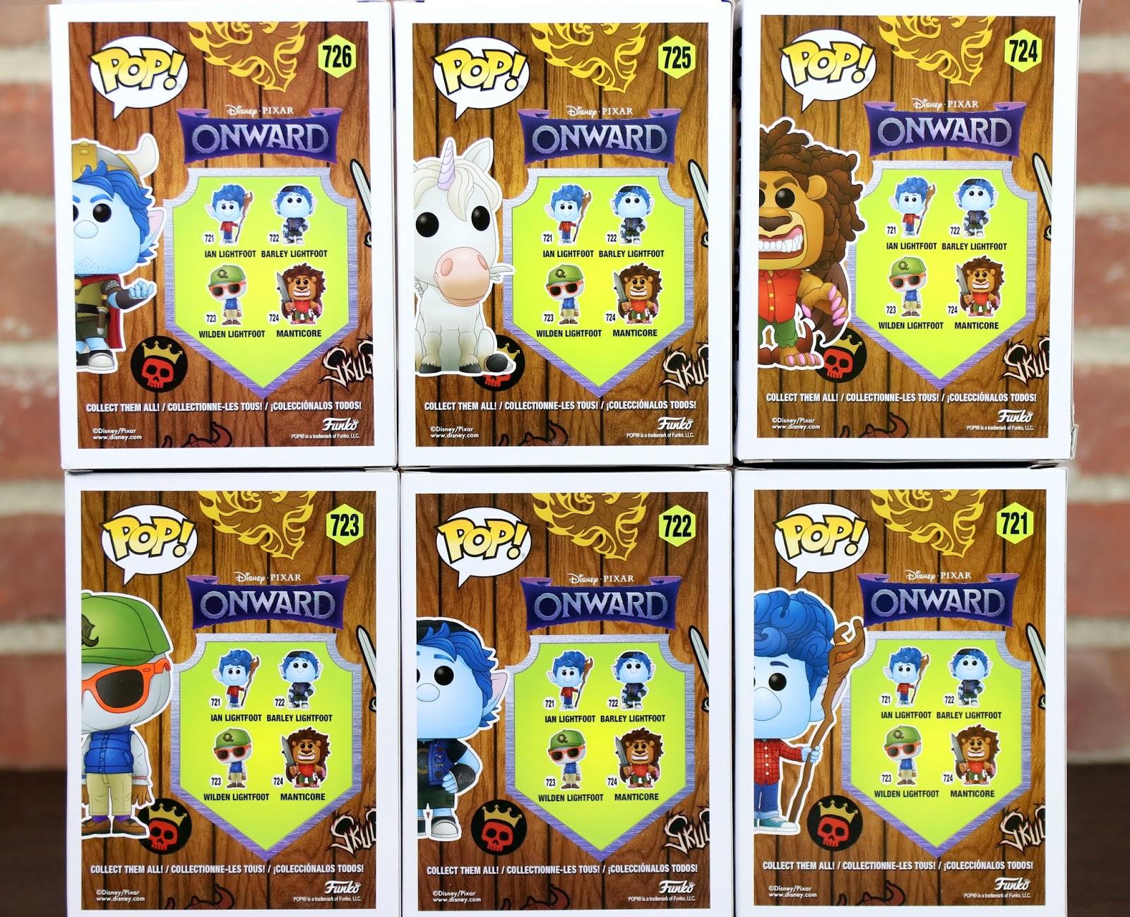 pixar onward funko pop collection