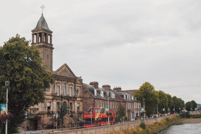 La ville d'Inverness dans les Highlands en Ecosse