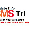 Upadate Info Tarif Dan Bonus SMS Tri Terbaru Mulai Februari 2016