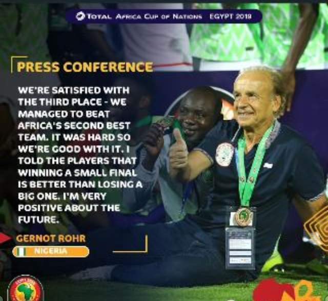 We Are Satisfied With Third Position - Rohr