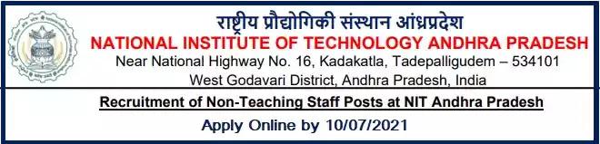 NIT Andhra Non-Teaching Vacancy Recruitment 2021
