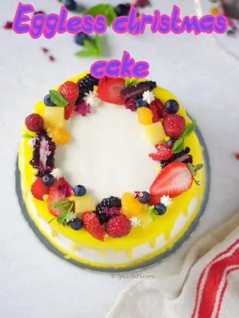 Delicious Eggless Christmas Cake Recipe at Home