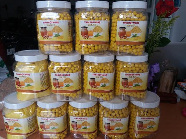Viên tinh nghệ se mật ong rất gòn ngon và dễ ăn