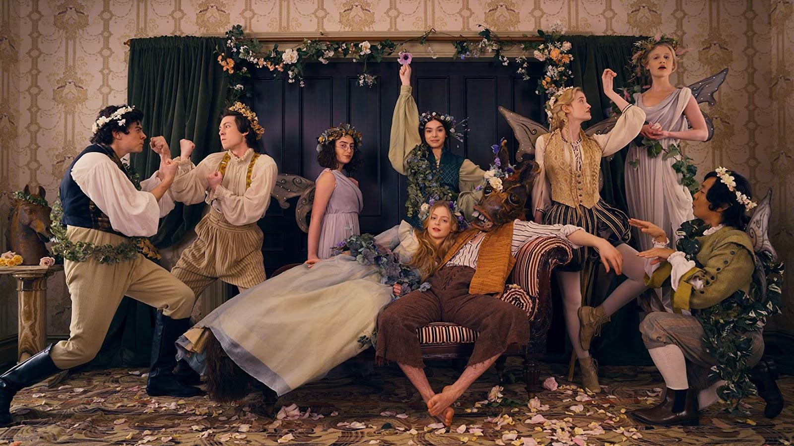 Parte del elenco de Dickinson en un fotograma de la serie