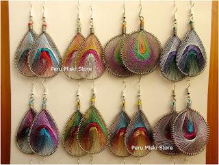 Metallic thread earrings