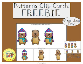 https://www.teacherspayteachers.com/Product/Groundhog-Day-Patterns-Task-Clip-Cards-FREEBIE-2980964