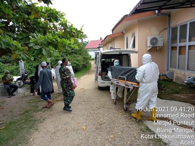 Dandim 0103/Aceh Utara ; Dengan meningkatnya Kasus Covid 19 Warga Harus Waspada dan Mentaati Protokol Kesehatan