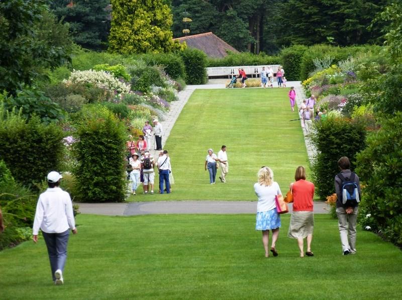 doble bordura inglesa jardin RHS Wisley