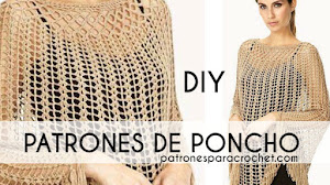 Patrones de Poncho Elegante a Crochet 💛 Tutorial en Video