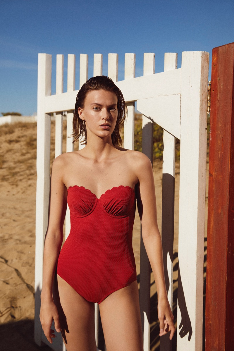 Retro-inspired silhouettes stand out in Esprit swim spring-summer 2021 collection.