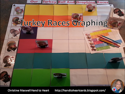 Turkey Races Graphing Using Cube Kleenex Box or Dice Template!