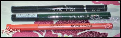lápices y eyeliner catrice