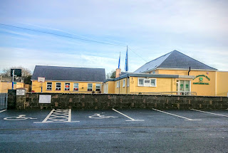exterior of an Irish national school in the countryside outside Galway city
