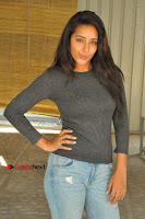 Actress Bhanu Tripathri Pos in Ripped Jeans at Iddari Madhya 18 Movie Pressmeet  0074.JPG