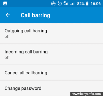 barring settings