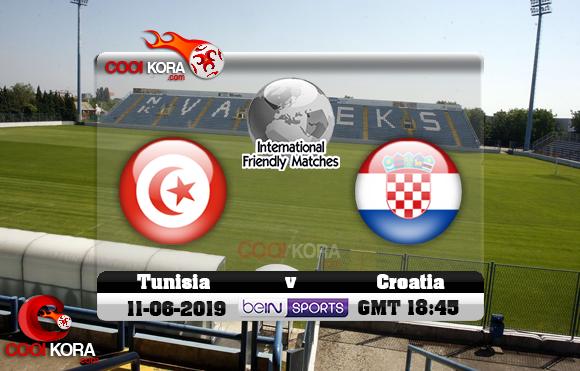 مشاهدة مباراة كرواتيا وتونس اليوم 11-6-2019 مباراة ودية
