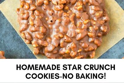 HOMEMADE STAR CRUNCH COOKIES-NO BAKING!