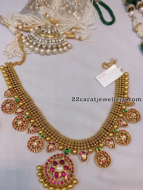 Antique Necklace with Kundan Mango