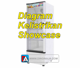 gambar skema diagram kelistrikan showcase