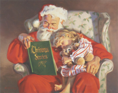 Twas the Night Before Christmas Santa and Child