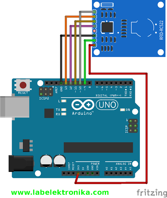 Wiring RFID RC522 Menggunakan Arduino