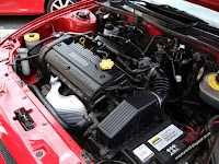 MG Rover 25 1.4 K series Solar Red engine bay detailed