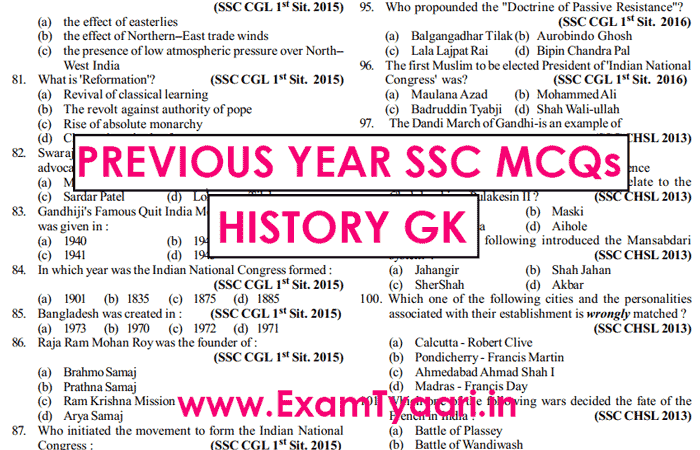 General Awareness For Ssc Cgl 2013 Pdf