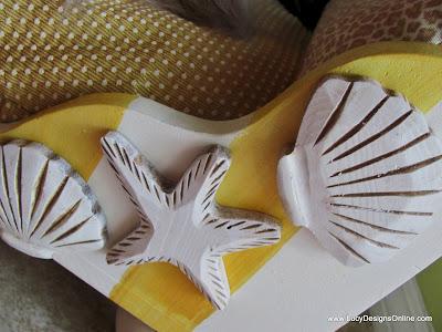 yellow stripes beach cabana