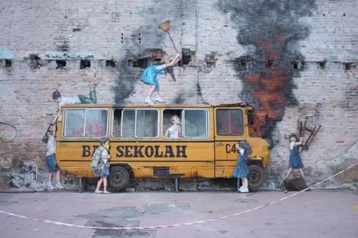 Литовский художник. Ernest Zacharevic (стрит арт)