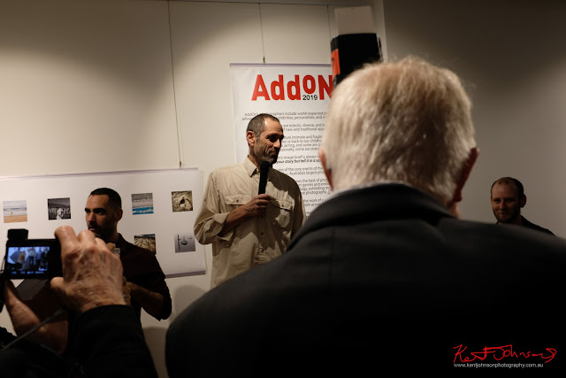 Add On (created by Charles MCKean) launched by Moshe Rosenzveig at 541 Art Space - Photo by Kent Johnson for Street Fashion Sydney.