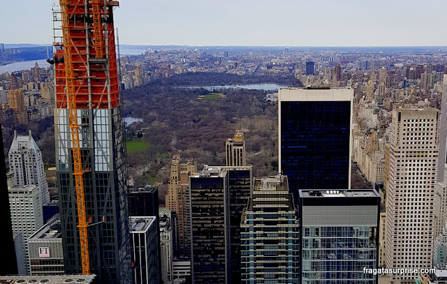O Central Park visto do Top of the Rock, Nova York