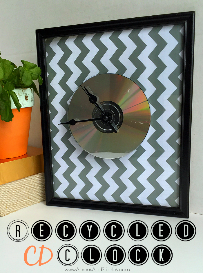 How to Make a DIY Recycled CD Clock