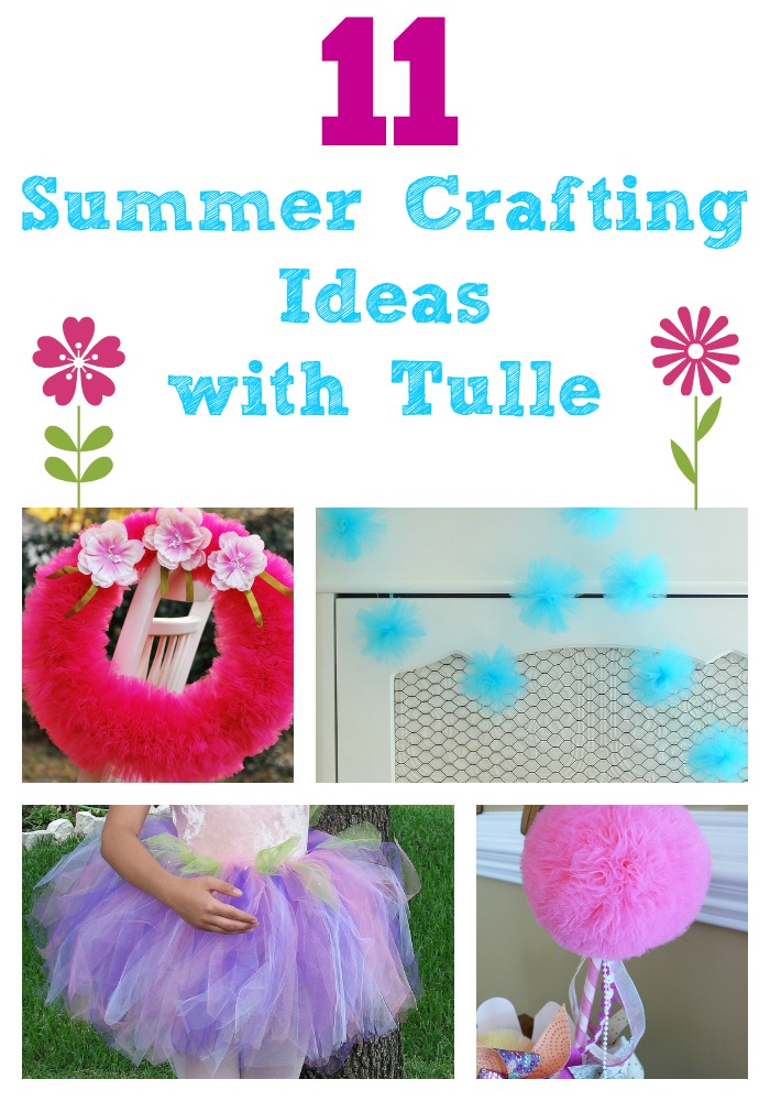 Great list of 11 #DIY crafts that can be done with #tulle. #crafts