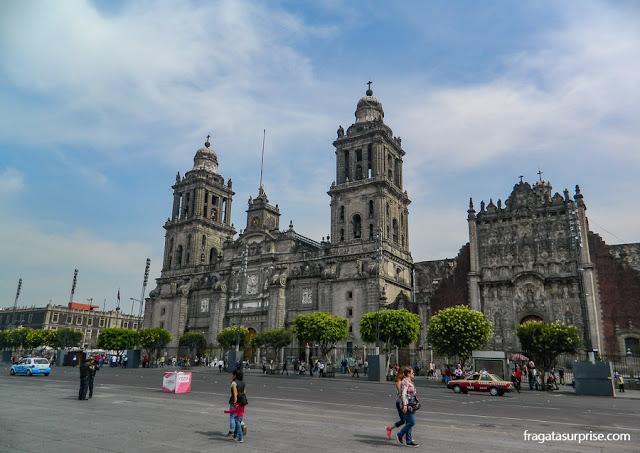 Catedral da Cidade do México, na Praça do Zócalo
