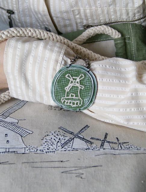 браслет, браслет из глины, браслет ручной работы, браслет с мельницей, украшение, украшения ручной работы, бижутерия, авторская бижутерия, авторский браслет, зеленый браслет, браслет с вышивкой
